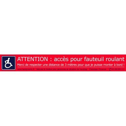 Lot 10 autocollants Attention fauteuil roulant