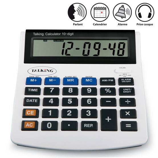 Calculatrice parlante grosses touches
